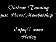 Outdoor Tanning Haley Ryder
