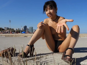 Littlesubgirl - Walk Naked  Squirt Infront of Strangers