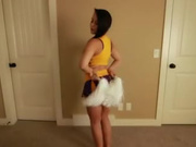 Cheerleader blowjob