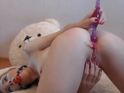 Blond anal show 2