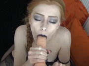 LunaRoux Wednesday Addams BlowJob in private premium video